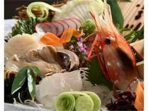道内産魚介のお造りなど旬の味覚満載!