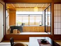 信楽焼きの浴槽(一例)【讃水館】露天風呂付客室12.5畳