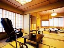 【飛天館】12.5畳+6畳+マッサージ機付き客室・よりグレードアップしたゆとりの客室