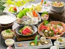 2014春の旬彩会席~鰆と鯛の豆乳しゃぶしゃぶと香川県産牛の大蒜味噌焼き