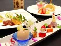 2014 クリスマス限定会席【飛天館】~前菜・オリーブ牛ステーキ・デザート