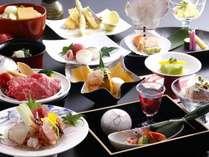 2015初夏 女将特選~讃岐牛の蒸しゃぶ、鯛の真子、殻付きホタテ、季節野菜