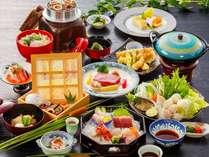 女将特選2015(冬)~鮑とナクフグのちり鍋、讃岐牛のステーキ