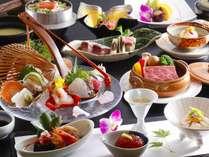 女将特選2016(新春)讃岐牛のデミグラ煮込みシチュー、伊勢海老など五種盛り造り、蟹釜飯