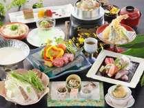旬彩会席2016(春夏)~香川県産牛大蒜味噌焼き、瀬戸内鯛豆乳鍋