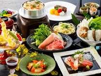 旬彩会席2017(春夏)~香川県産牛とオリーブ豚の焼きしゃぶ、瀬戸内鯛のちり鍋と釜飯