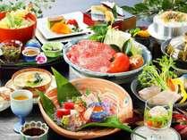 【旬彩会席】◆瀬戸内の美味いもの尽くし☆香川県産牛とトマト鍋・瀬戸内鯛と鰆焼き・豚角煮とフカヒレ蒸し