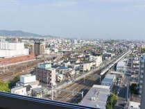 一部の客室からは、東海道新幹線のトレインビューをお楽しみいただけます♪