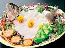 【秋田名産食べ比べ(2)】清流岩魚のお造り+豚しゃぶ