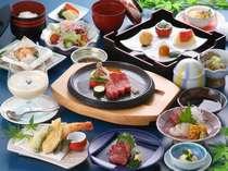 【夕食グレードアップ】大塚牛ステーキ&イセエビのダブルメイン会席+コーナーバイキング