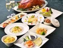 ■「聖誕節菜譜(せいたんせつさいふ)」 緑風館最上階より、広東料理のXma