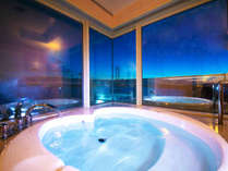 """■デラックスツイン■36平米。これぞ非日常!""""湯ったり""""とお風呂に入りながら、景色を楽しむ至福のひと時"""