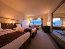 ■和洋室■54平米。美景を望むスタイリッシュな洋室と、落ち着きのある和室の両方をお楽しみください