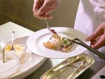 シェフの実演朝食『ガレット』そば粉を使ったヘルシーな料理♪美と健康をサポートする1品をどうぞ♪