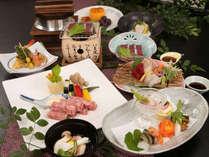 【宮崎牛鉄板ステーキ×かつお炙りの和会席】日南の一本釣りカツオを使用★地元のお米ヒノヒカリと共に♪