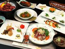【ご夕食一例】国産黒毛和牛の陶板焼きと会津郷土食