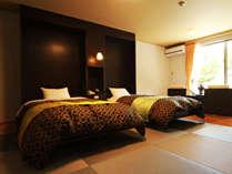 ◆【ラグジュアリーツイン】モダンで洗練されたラグジュアリーな空間で贅沢なひと時をお寛ぎください。