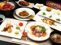 ◆【ご夕食一例】国産黒毛和牛の陶板焼き&会津郷土料理をお楽しみ下さい♪