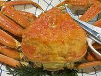 冬の味覚の王様、ずわい蟹♪ゆで蟹がおいしいですね!当日注文でご用意できますのでお申し付けください☆