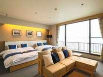 【洋室ツイン】リニューアル部屋★大きな窓からは宍道湖の朝日・夕日がご覧いただけます。