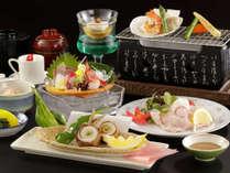料理長が腕をふるった、和食の会席料理です。