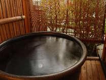 客室専用露天風呂の一例。