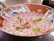 【お食事】鯛の上品な香りと、絶妙の美味しさ!天然鯛しゃぶ♪