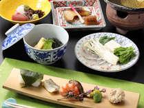 【季節の京会席】新鮮で味のよい京野菜や旬の素材をお愉しみください。※イメージ