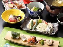 【ご夕食】天ぷら盛り合わせ付き季節の京会席※イメージ