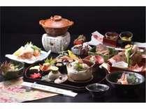 秋の京懐石一例四季を感じていただける本格京懐石をご提供いたします。