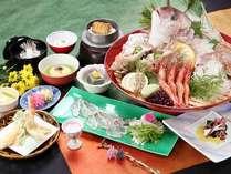 鯛しゃぶ、鯛釜飯etc 春の旬をリーズナブルにお届けします♪(写真お造りは2人前になります)