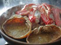 【食べ納め特価】【カニ2.5杯】当館名物★蟹もアワビも石焼きアツアツで絶品♪カニフルコース&活あわび
