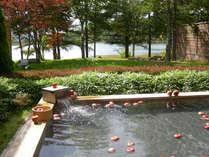 秋の名物!りんご風呂