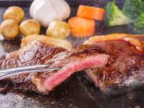 地元蓼科牛の柔らかで上質な和牛を贅沢にもステーキで