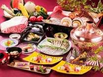 信州の名産「信州サーモン」になど旬の食材をお造りで 白樺会席