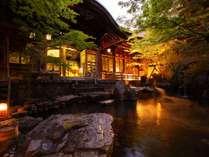 無料でご入浴いただける湯田中温泉よろづやの登録有形文化財の大野天風呂(送迎あり5分)