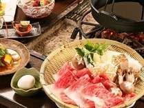 信州アルプス牛メインを使った懐石料理(季節によって品数や内容が変わります)