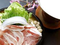 【夕食一例】鹿児島の黒豚を使った豆乳しゃぶしゃぶ