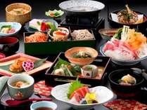 【朱白膳】信州の食材やこだわり食材満載のオリジナル会席膳 (イメージ)