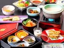 こだわりの朝食(イメージ)【和定食】国産豆乳の手作り豆腐や信州味噌と具だくさんのお味噌汁 など