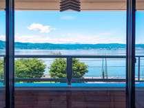レイクビュー客室からの眺め(一例)