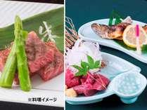 「メイン料理選べるプラン」≪信州牛ステーキ≫or≪馬刺し・岩魚≫