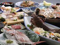 特別料理、鯛と伊勢海老コース