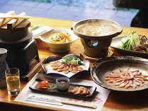 定番★キジ・鴨・川魚…地元の食事と高月温泉を愉しむ