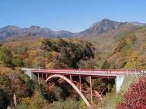 赤い橋からの八ヶ岳は最高のロケーション