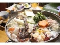 【鍋コース】ばしゃ山村自慢の漁師鍋。最後のおじやは絶品。