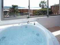 燦燦館1F洋室露天ジャグジー風呂
