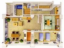 リビング25畳+和室8畳+ベッドルーム8畳