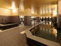 男性大浴場【駅前最大級の大浴場】サウナ、水風呂もあり