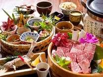 炭火焼をメインに、季節の小鉢の篭盛りなどをお召し上がりください